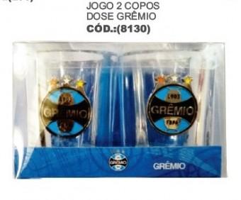 8130 JOGO 2 COPOS DOSE 1062A-14 GREMIO