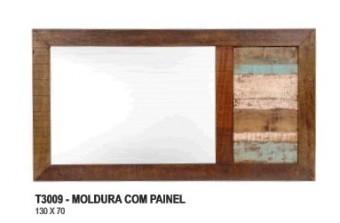 T3009 MOLDURA COM PAINEL ( MADEIRA DE DEMOLIÇÃO/RÚSTICO )