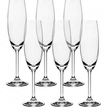 56079 Jogo de 6 taças para Champanhe Gastro em cristal ecológico 220ml