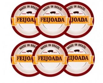 061615  CJ. C/06 PRATOS FUNDOS 23CM - FEIJOADA PREMIUM - JM14-6797