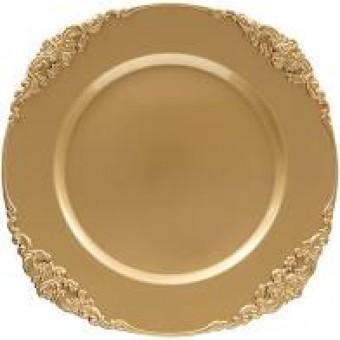 945807U Sousplat Galles Barroco Gold