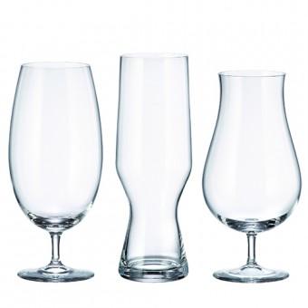 58409 Jogo de 6 pecas para cerveja Beercraft em cristal ecologico 2x(550/630/680ml) transparente