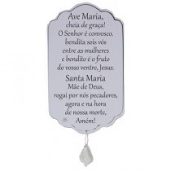 P12324 MÓBILE DE PAREDE AVE MARIA 24,5X14,5