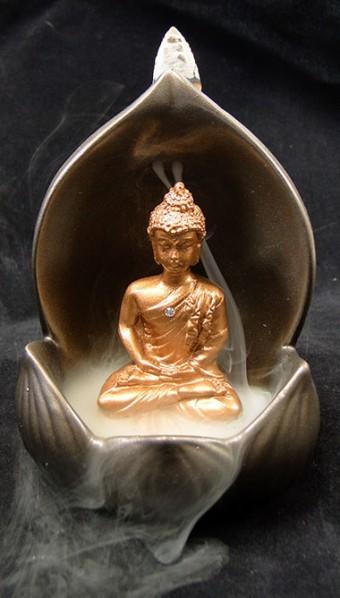 42-194 Incensário Flor de Lótus com Buda Meditando