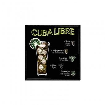 BR01.1699.LIS PLACA CUBA LIBRE PROMOCAO