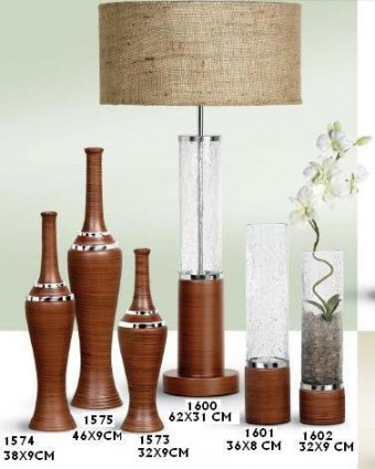 VASO STILO PEQ WOOD BROWN